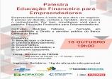 18 de Outubro Educação  Financeira para Empreendedores